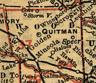 Map of Wood County, 1900