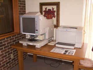 microfilm scanner-printer