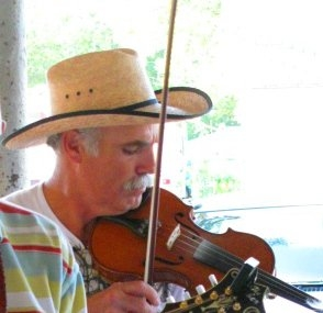 Pat Allen playing the fiddle