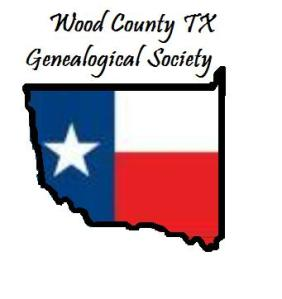 logo idea Shape of Wood County filled with part of Texas flag
