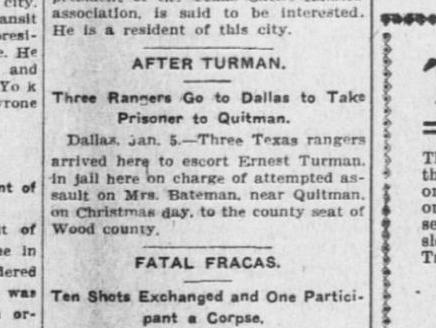 Prisoner returned to Quitman