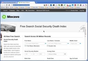 Social Security Death Index Search at mocavo.com
