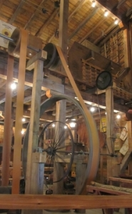 Belts and Gears Run by Water Wheel